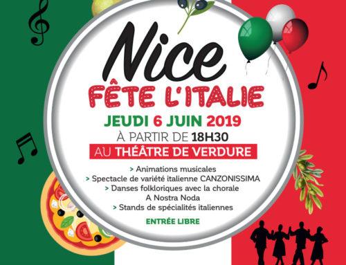 Nice Fête l'Italie : Evénements du mois de juin 2019